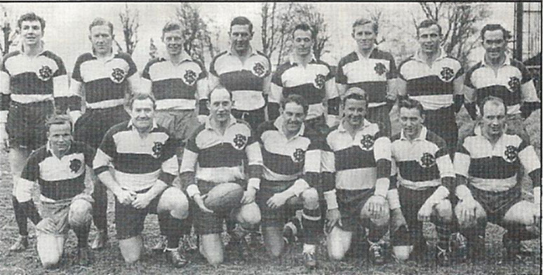 Line-up v East Midlands 1956 Below: Relaxing on tour 1951 Bottom left: The 1954 Tour Party