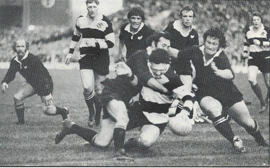 A Mervyn Davies try v. All Blacks, 1974